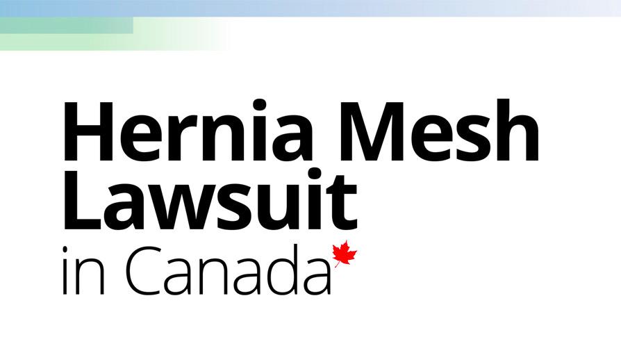Hernia Mesh Lawsuit In Canada – eBook